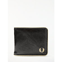 Buy Fred Perry Billfold Wallet, Black/Ecru Online at johnlewis.com