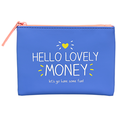 Happy Jackson Hello Lovely Money Coin Purse, Blue