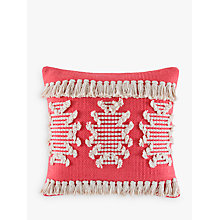 Buy Kas Oneil Cushion, Coral Online at johnlewis.com