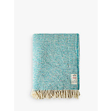 Buy Avoca Heavy Herringbone Throw, Turquoise Fleck Online at johnlewis.com