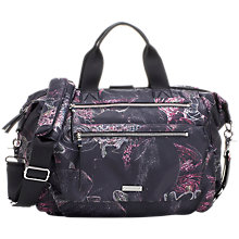 Buy Storksak Seren Convertible Floral Changing Bag, Black/Multi Online at johnlewis.com