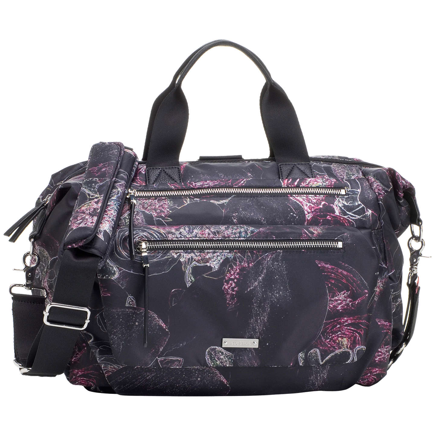 BuyStorksak Seren Convertible Floral Changing Bag, Black/Multi Online at johnlewis.com