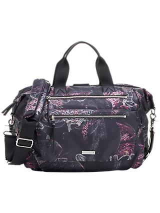 Storksak Seren Convertible Floral Changing Bag, Black/Multi