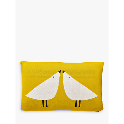 Scion Lintu Knitted Cushion, Yellow