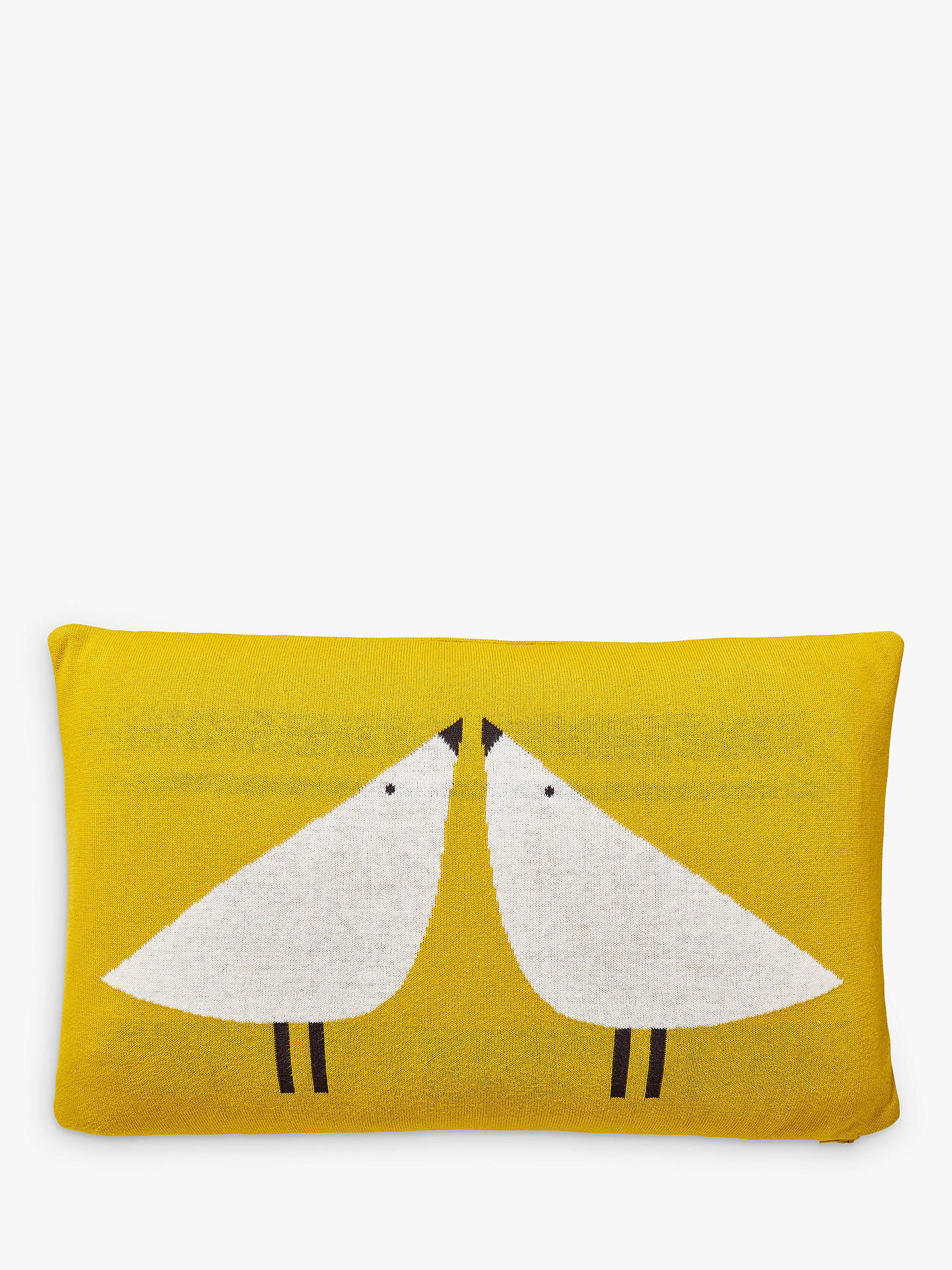 BuyScion Lintu Knitted Cushion, Yellow Online at johnlewis.com
