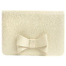 Buy Phase Eight Ariel Metallic Bow Clutch, Cream Ivory Online at johnlewis.com