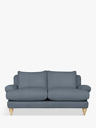 Croft Collection Findon Medium 2 Seater Sofa, Beaulieu Lake Blue