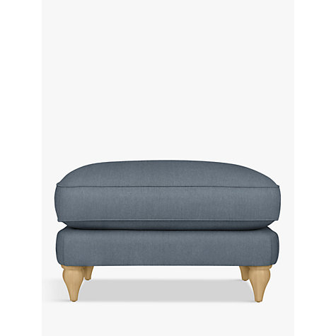 Buy Croft Collection Findon Footstool, Oak Leg, Beaulieu Lake Blue Online at johnlewis.com