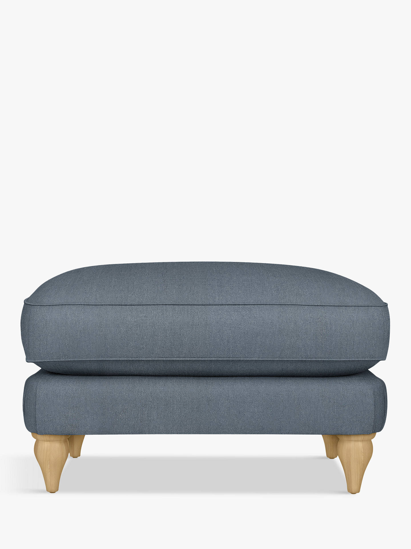 BuyCroft Collection Findon Footstool, Oak Leg, Beaulieu Lake Blue Online at johnlewis.com