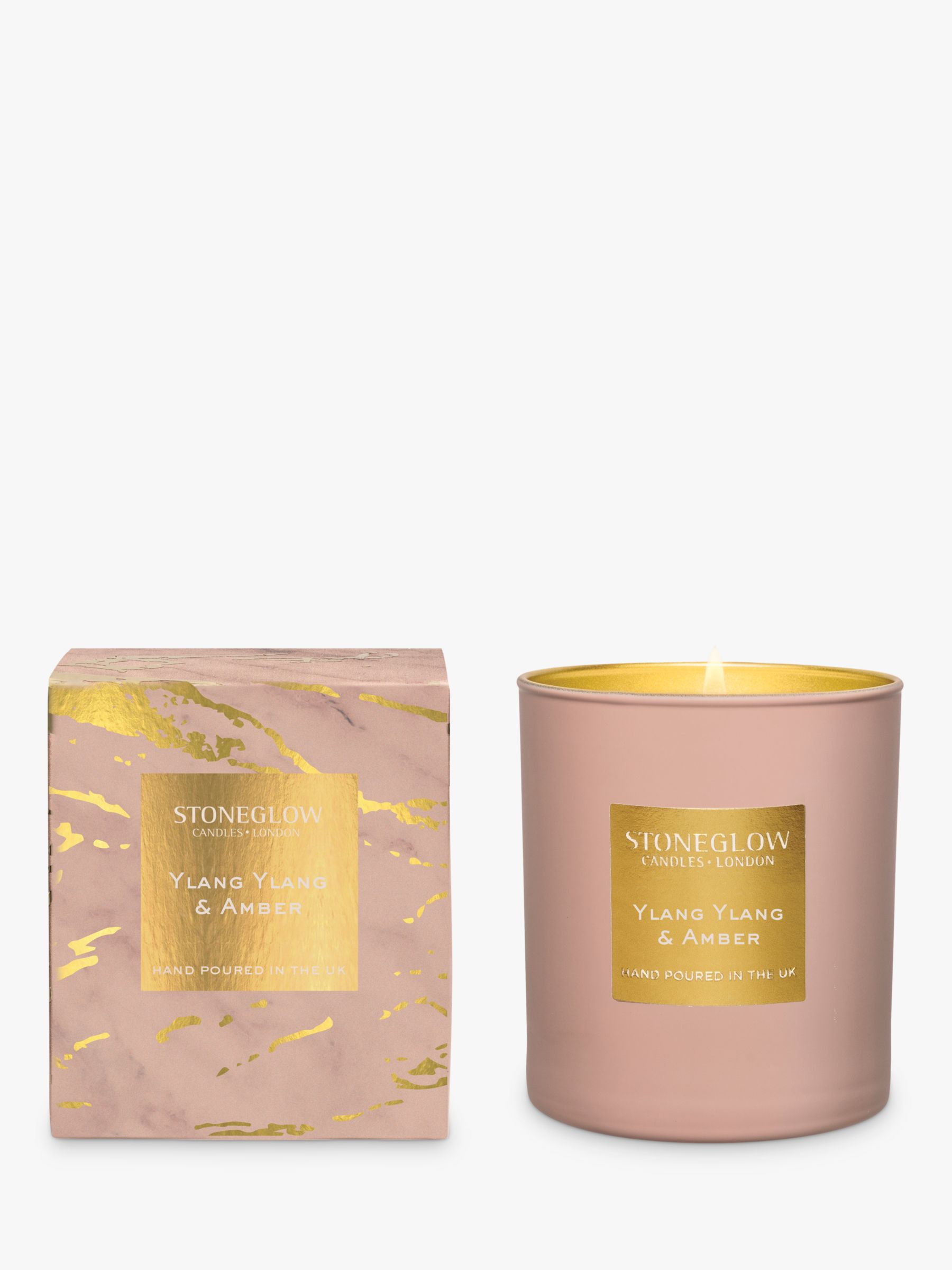 Stoneglow Stoneglow Luna Ylang Ylang & Amber Scented Candle, 220g
