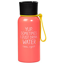 Buy Happy Jackson 'Just Water' Water Bottle Online at johnlewis.com