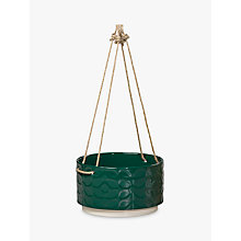 Buy Orla Kiely Large Ceramic Hanging Pot, Green Online at johnlewis.com