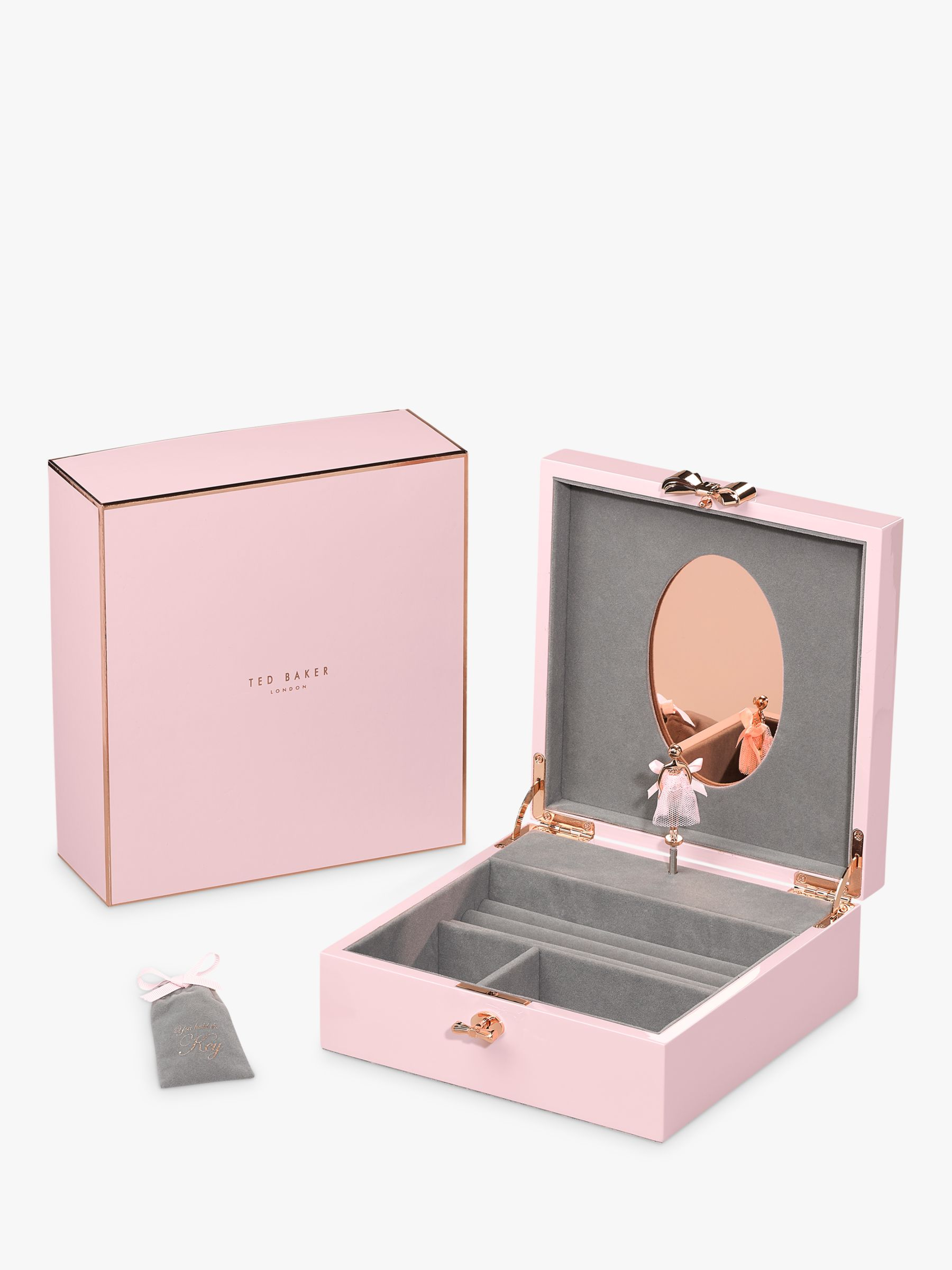 Ted Baker Letyi Large Ballerina Jewellery Box Pink at John Lewis