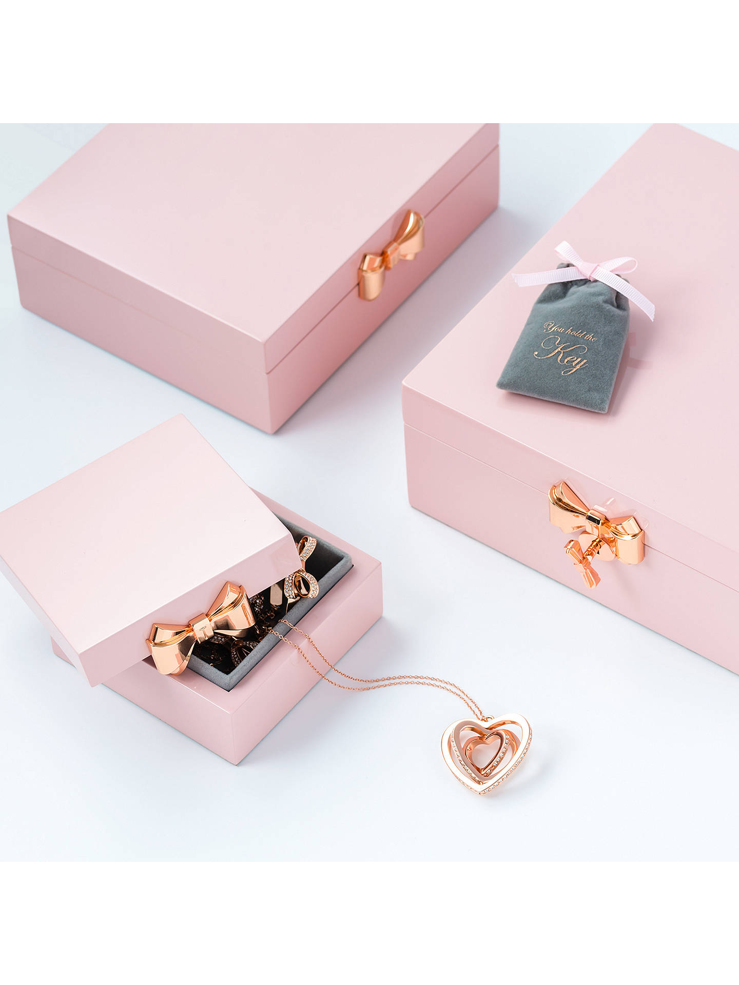 f0187f78f ... Buy Ted Baker Lanzia Small Jewellery Box, Pink Online at johnlewis.com