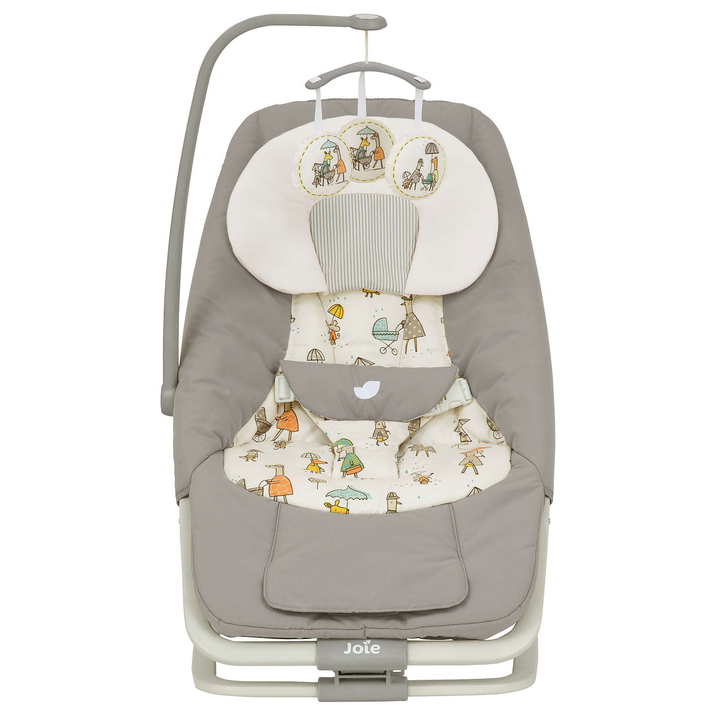 joie dreamer baby bouncer in the rain at john lewis