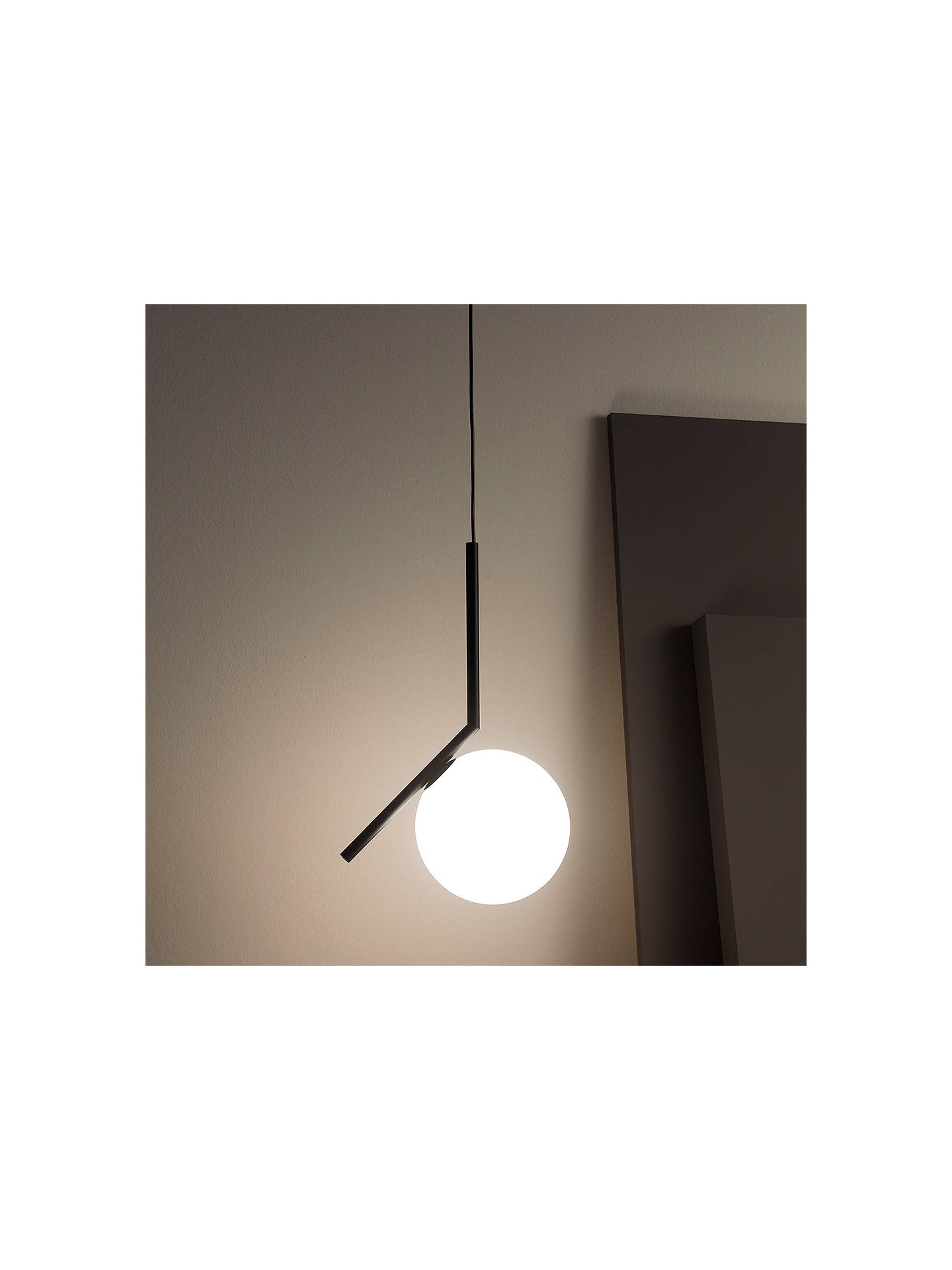 BuyFlos IC S1 Ceiling Light, 20cm, Black Online at johnlewis.com