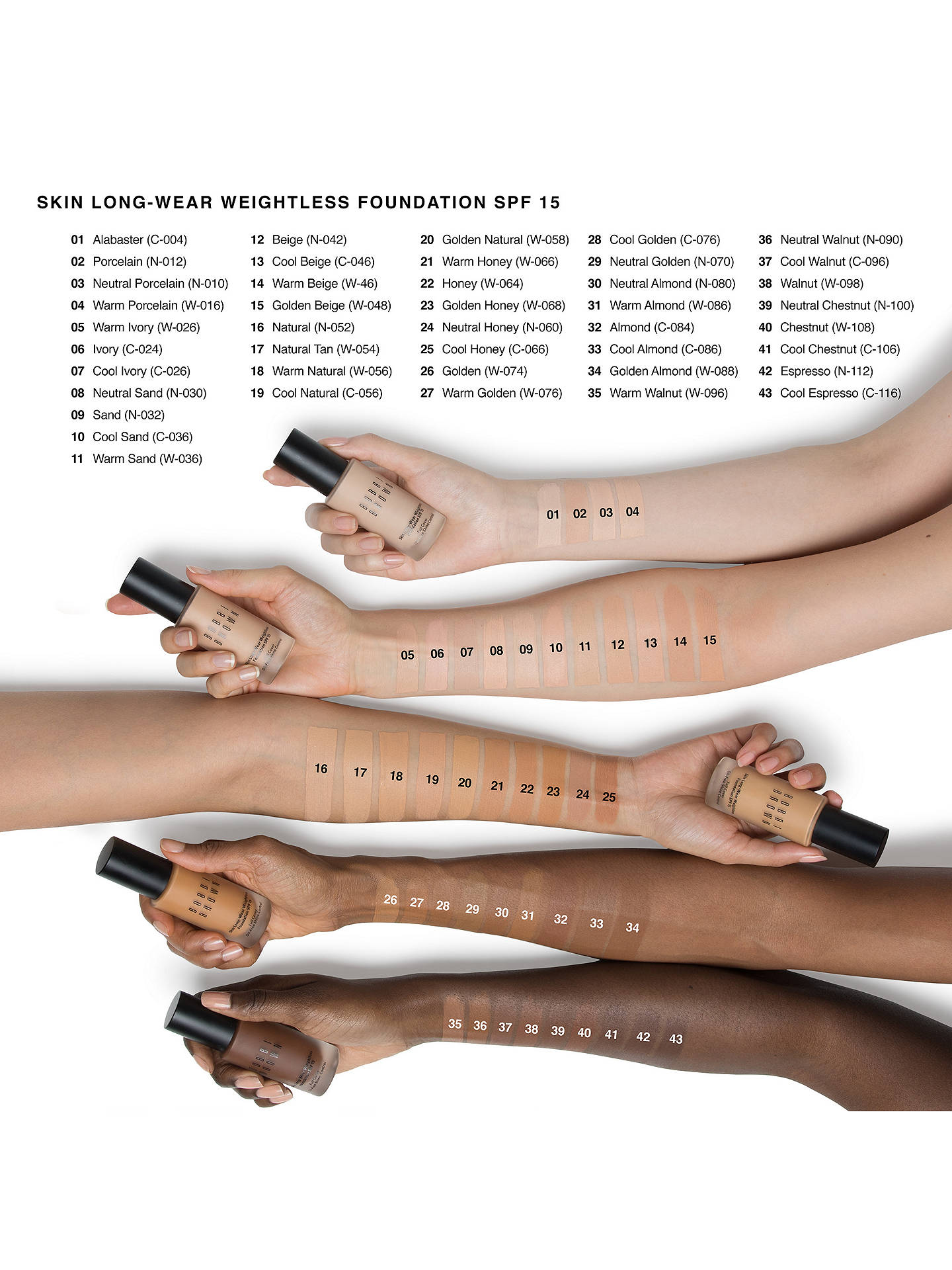 BuyBobbi Brown Skin Long-Wear Weightless Foundation SPF15, Beige Online at johnlewis.com