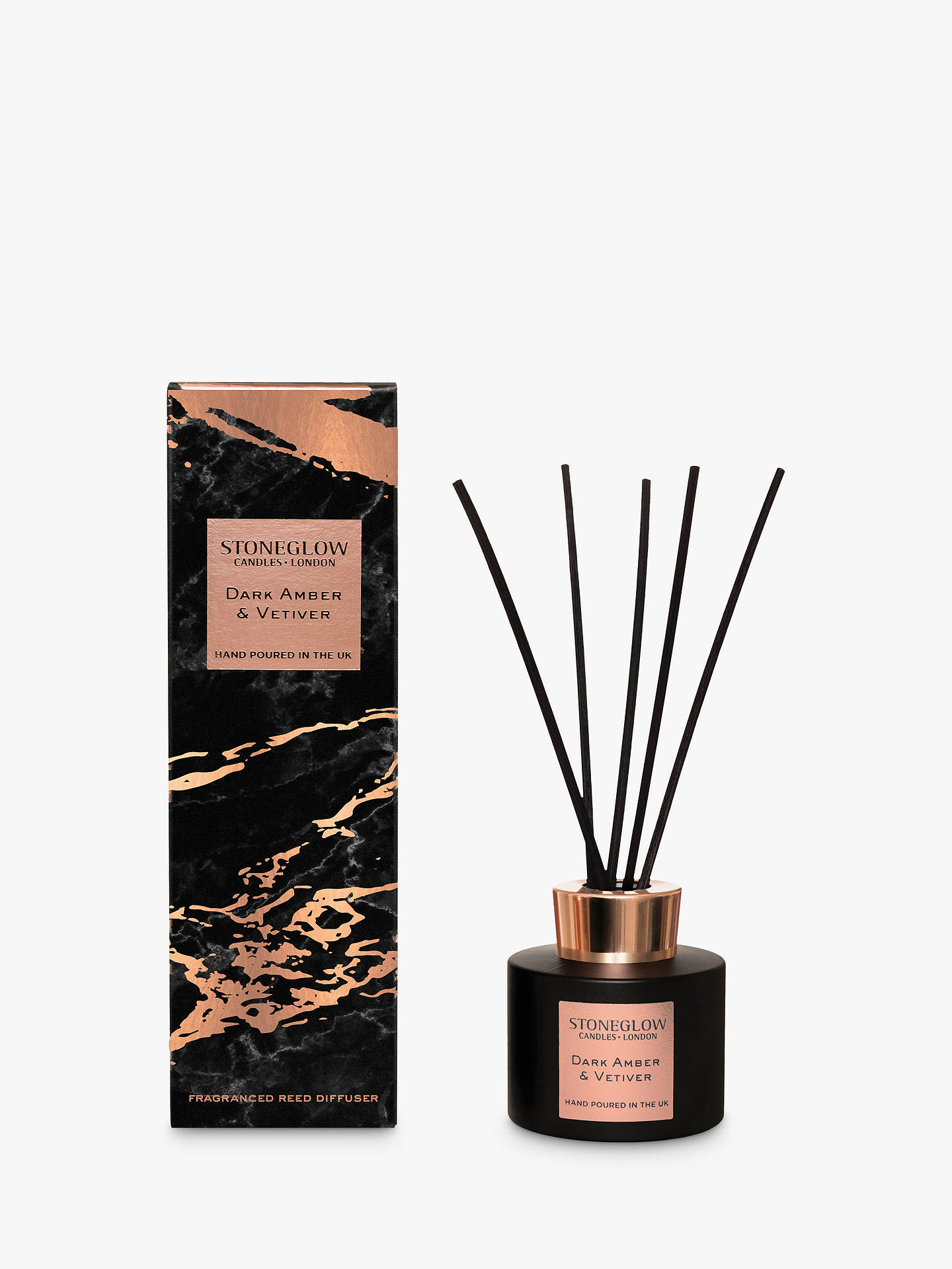 Buy Stoneglow Luna Amber & Vetiver Reed Diffuser, 120ml Online at johnlewis.com