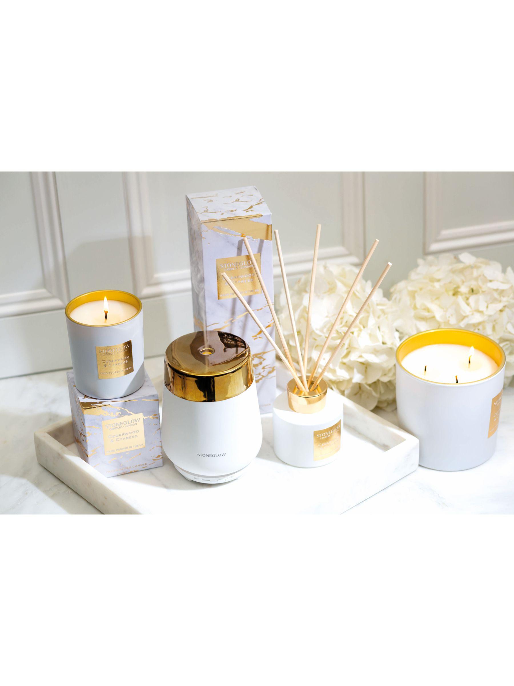 Stoneglow Stoneglow Luna Cedarwood & Cypress Scented Candle, 220g