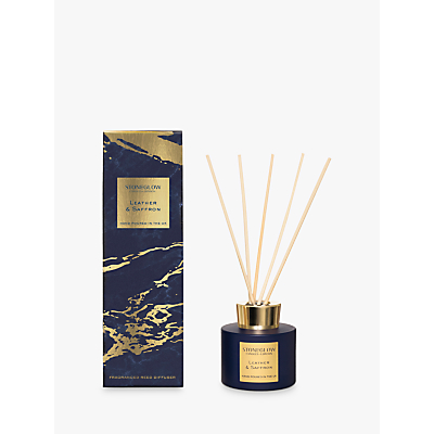 Stoneglow Luna Leather & Saffron Diffuser, 120ml