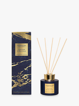 Buy Stoneglow Luna Leather & Saffron Reed Diffuser, 120ml Online at johnlewis.com