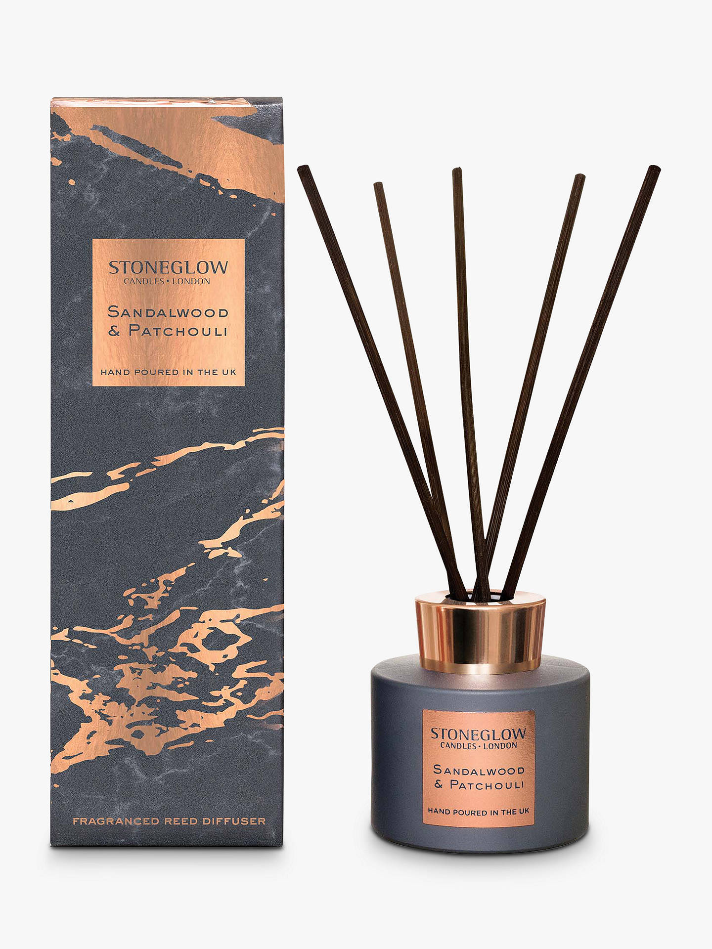 Buy Stoneglow Luna Sandalwood & Patchouli Reed Diffuser, 120ml Online at johnlewis.com