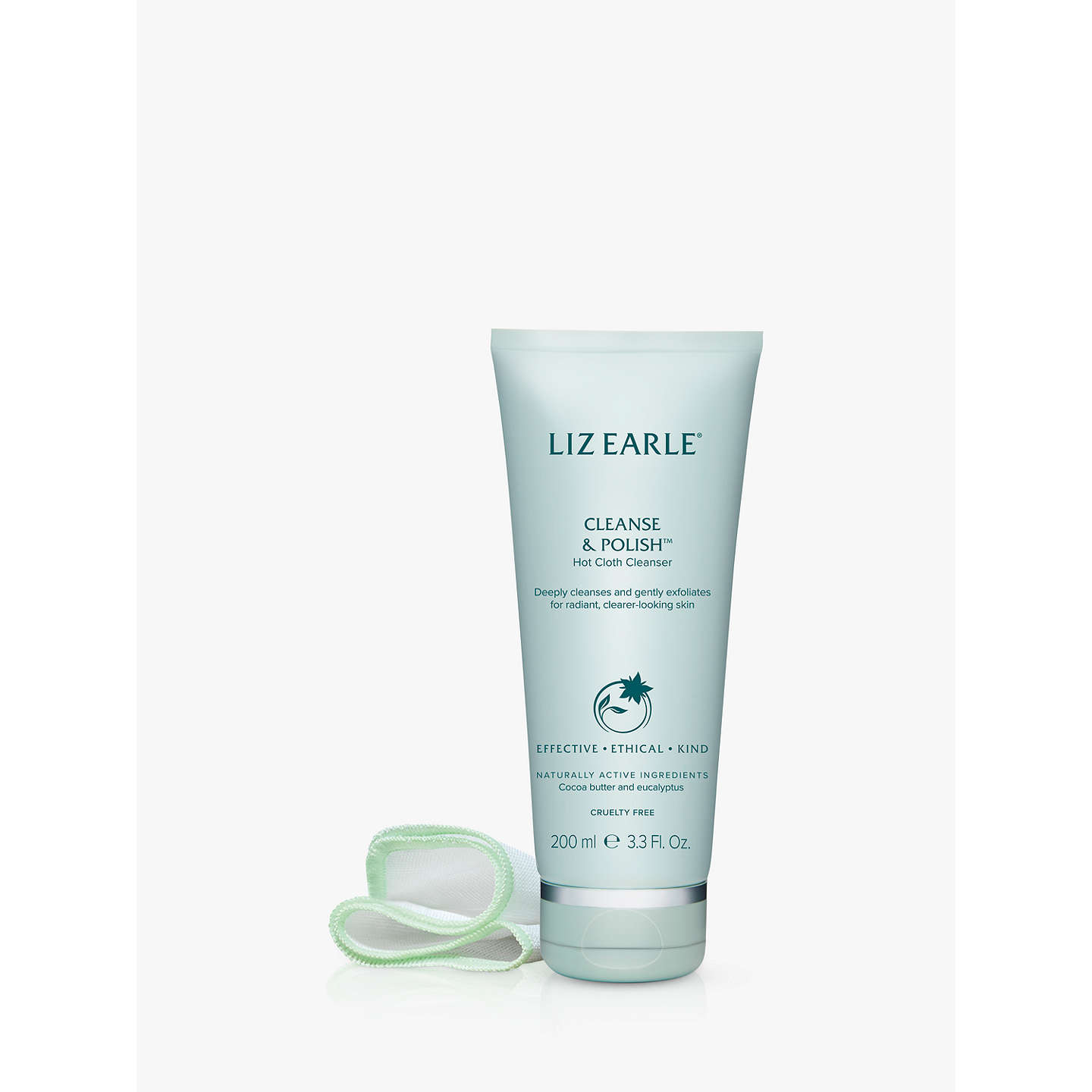 Liz Earle Cleanse & Polish™ Hot Cloth Cleanser, 200ml With 2 Cotton Cloths by Liz Earle
