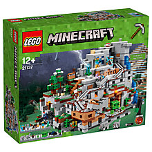 Buy LEGO Minecraft 21137 The Mountain Cave Online at johnlewis.com
