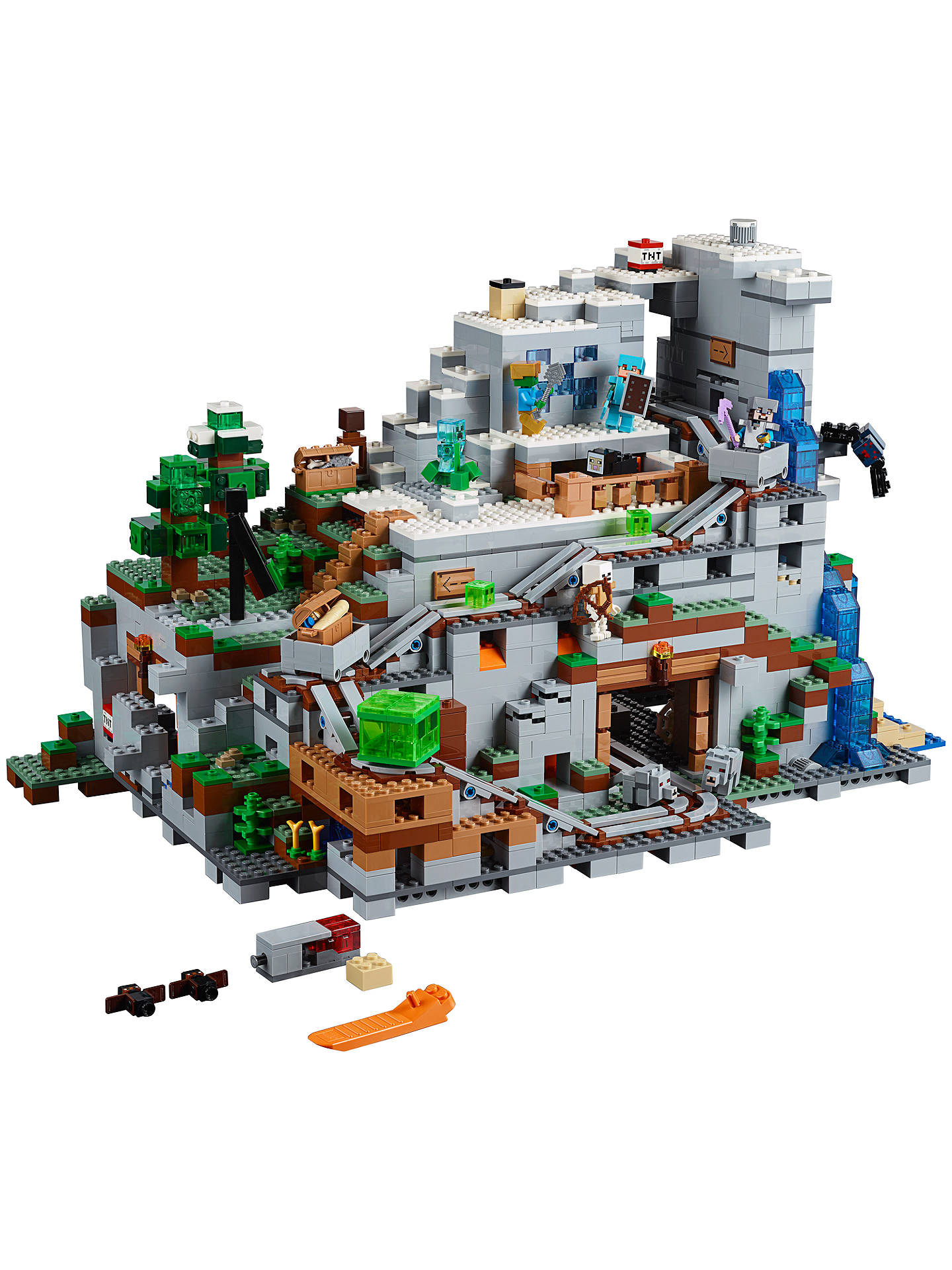 LEGO Minecraft 8 The Mountain Cave at John Lewis & Partners