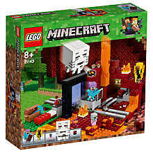 Buy LEGO Minecraft 21143 The Nether Portal Online at johnlewis.com