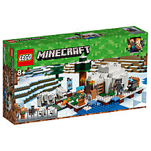 Buy LEGO Minecraft 21142 The Polar Igloo Online at johnlewis.com