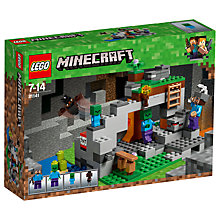Buy LEGO Minecraft 21141 The Zombie Cave Online at johnlewis.com