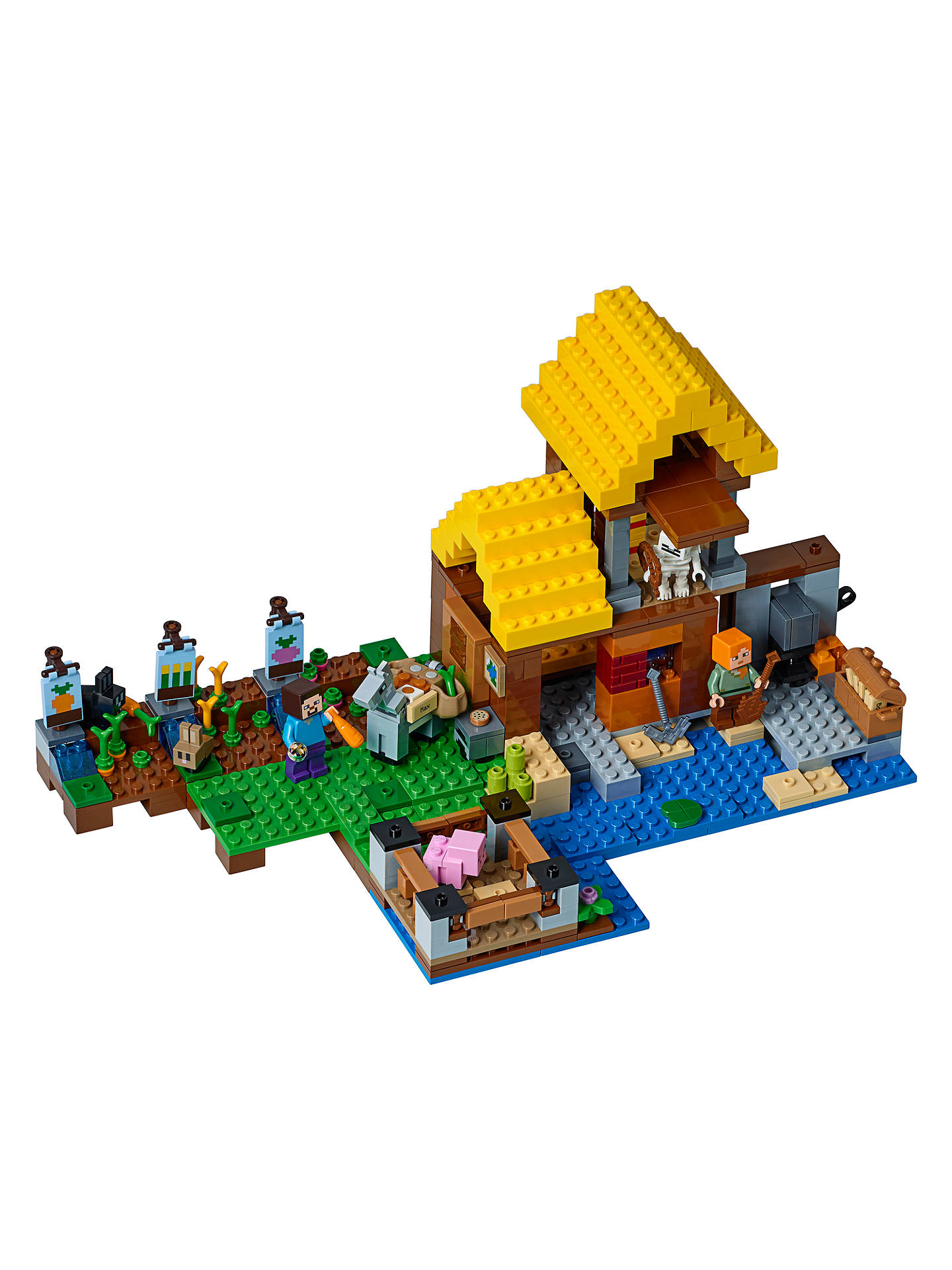 BuyLEGO Minecraft 21144 The Farm Cottage Online at johnlewis.com