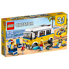 Buy LEGO Creator 31079 3 in 1 Sunshine Surfer Van Online at johnlewis.com