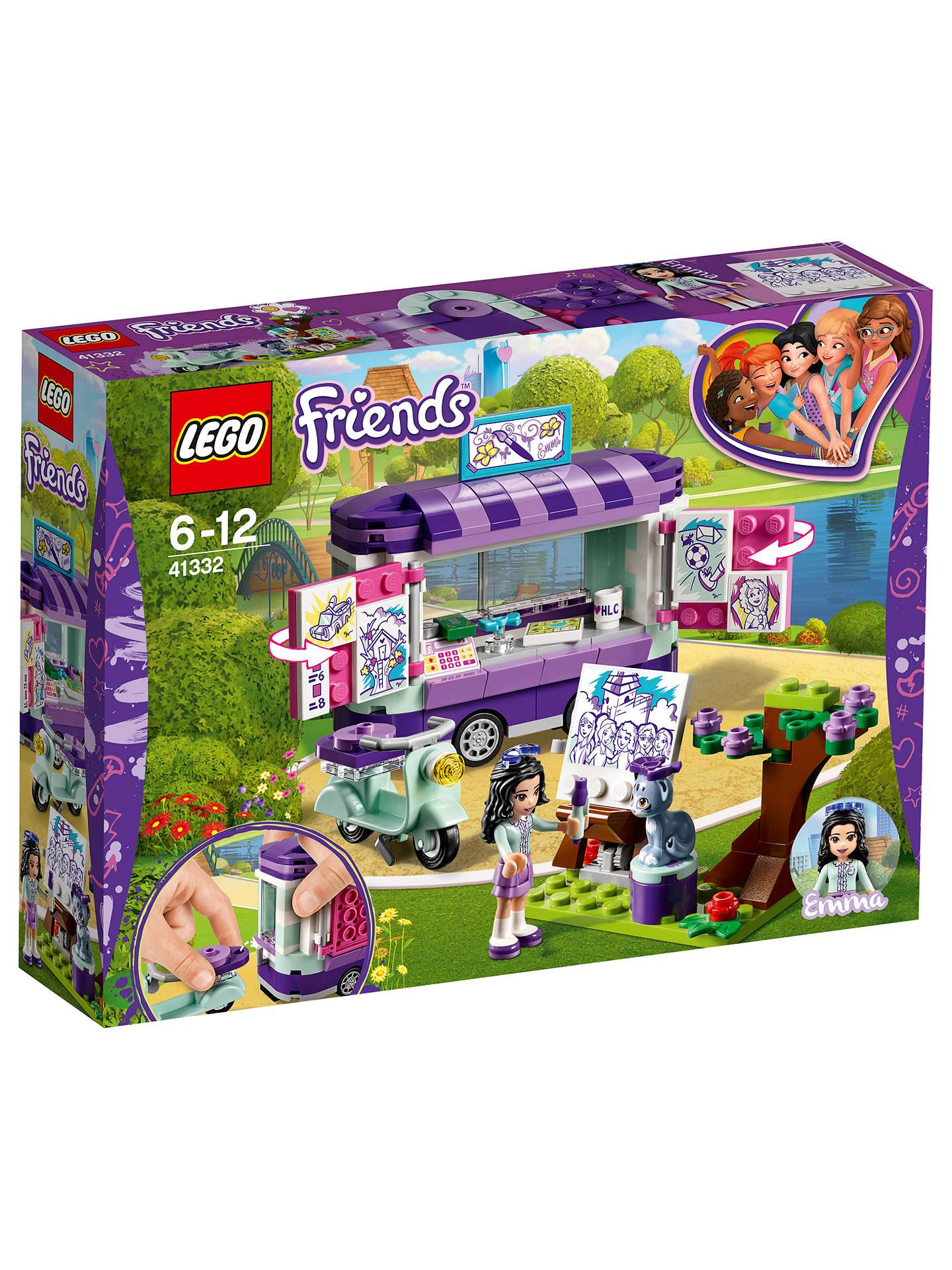 Lækker LEGO Friends 41332 Emma's Art Stand at John Lewis & Partners ZL-28