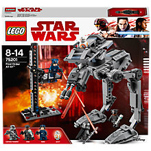 Buy LEGO Star Wars The Last Jedi 75201 First Order AT-ST Walker Online at johnlewis.com