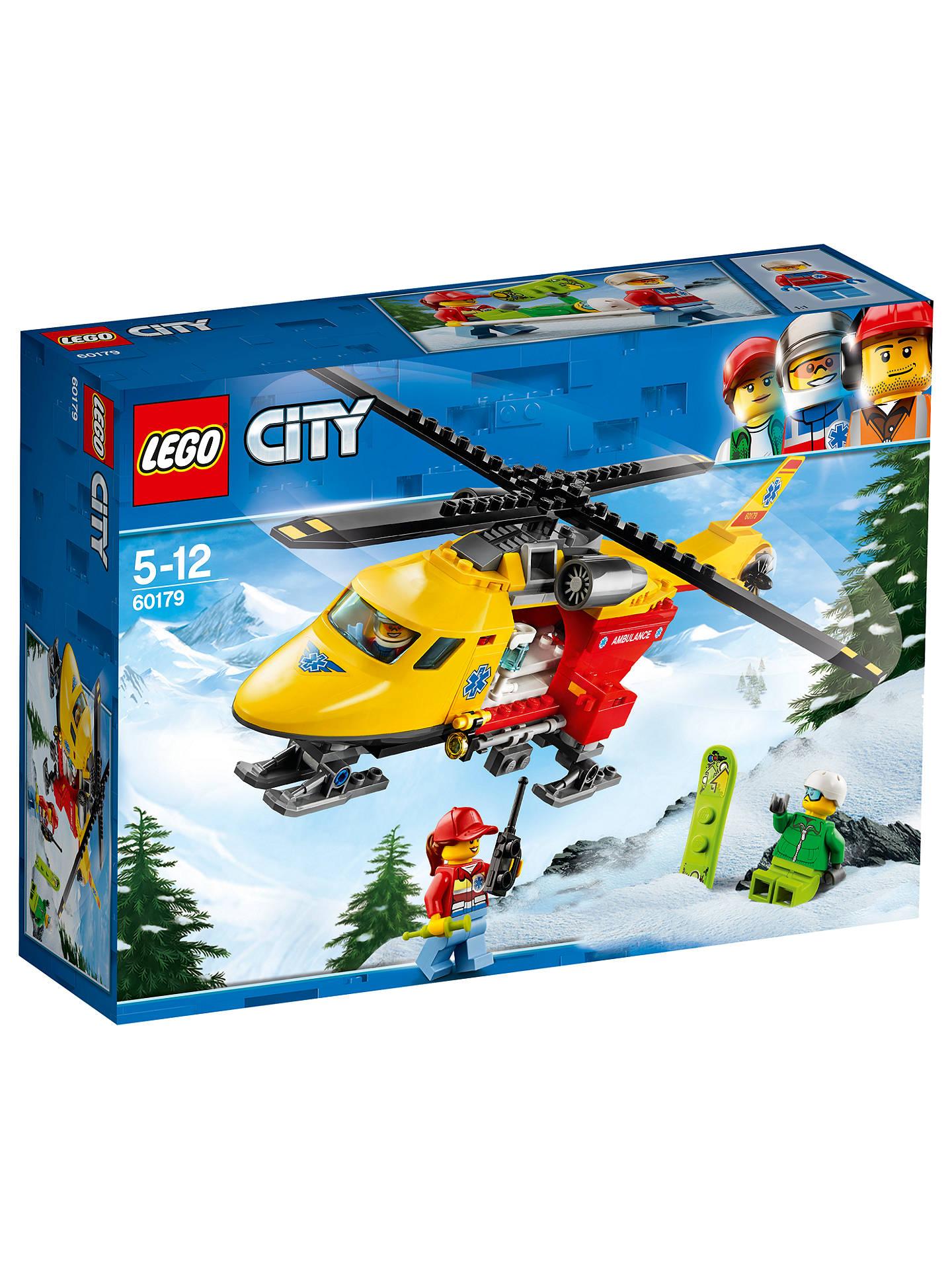 lego city 60179 ambulance helicopter at john lewis partners. Black Bedroom Furniture Sets. Home Design Ideas