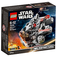 Buy LEGO Star Wars 75193 Millennium Falcon Microfighter Online at johnlewis.com