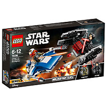 Buy LEGO Star Wars: The Last Jedi 75196 A-Wing Vs. Tie Silencer Online at johnlewis.com