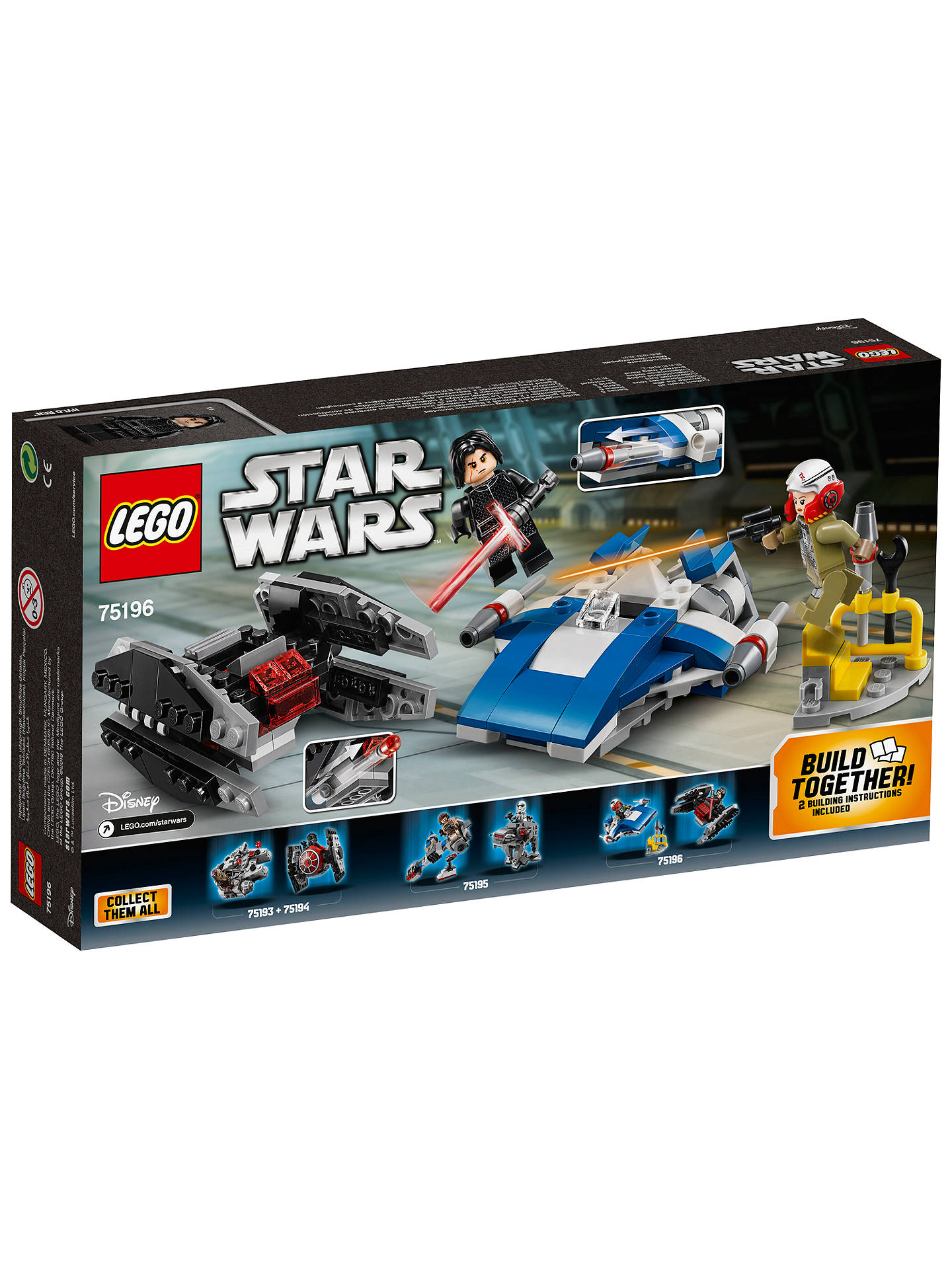 BuyLEGO Star Wars: The Last Jedi 75196 A-Wing Vs. Tie Silencer Online at johnlewis.com
