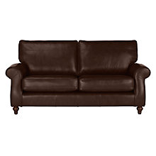 Buy John Lewis Hannah Leather Large 3 Seater Sofa, Dark Leg Online at johnlewis.com