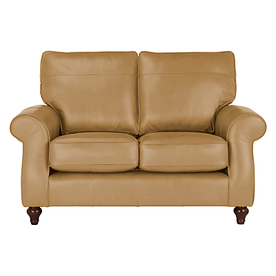 John Lewis Hannah Leather Small 2 Seater Sofa, Dark Leg