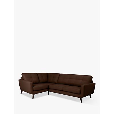 John Lewis & Partners Barbican Leather LHF Corner End Sofa, Dark Leg
