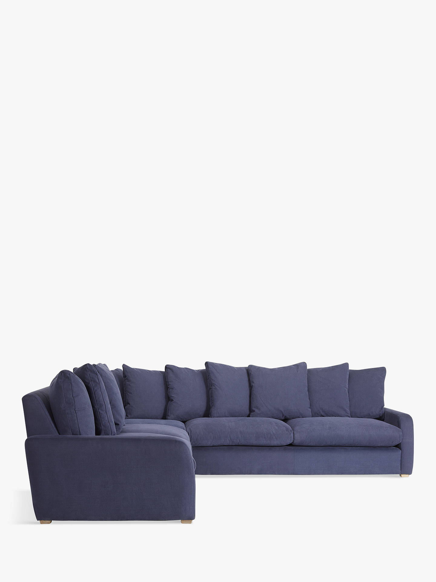 BuyFloppy Jo Large Corner Sofa by Loaf at John Lewis, Brushed Cotton Navy Online at johnlewis.com