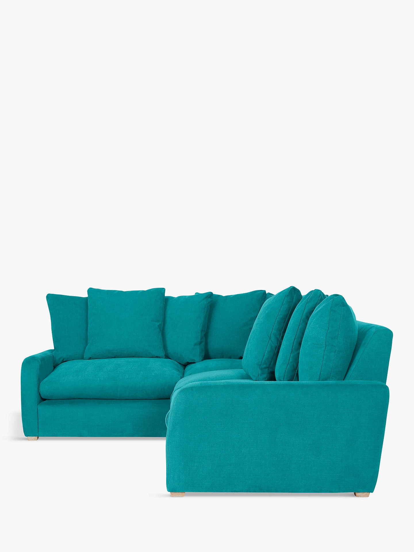 brand new 252f6 fec64 Floppy Jo Large LHF Corner End Sofa by Loaf at John Lewis, Brushed Cotton  Peacock