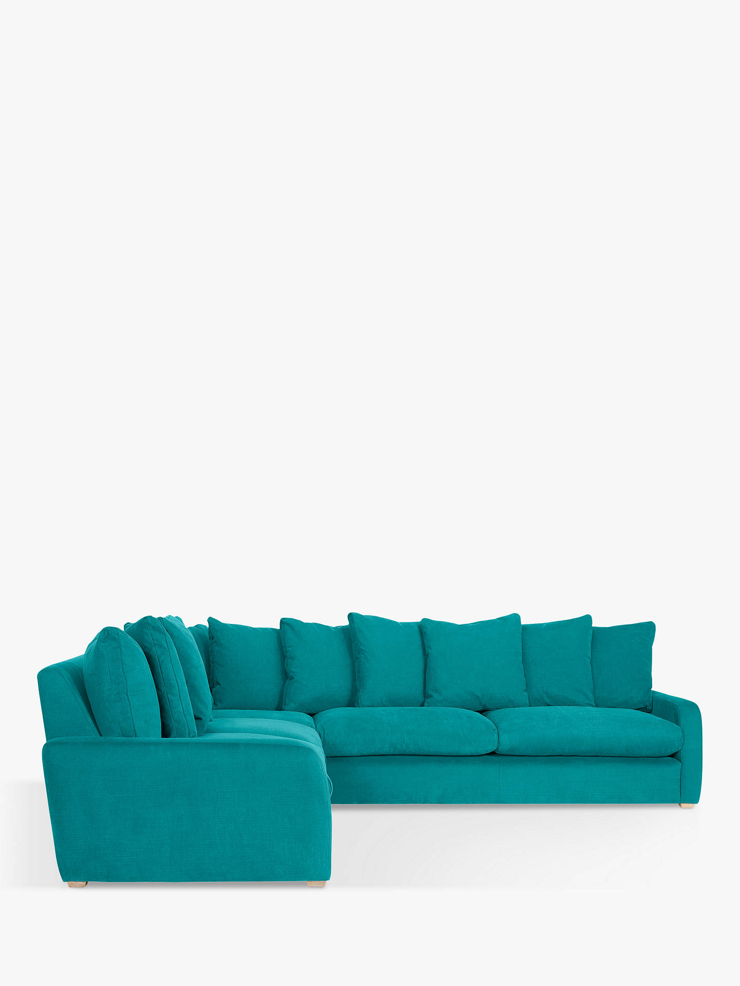 quality design a2208 84643 Floppy Jo Large Corner Sofa by Loaf at John Lewis, Brushed Cotton Peacock