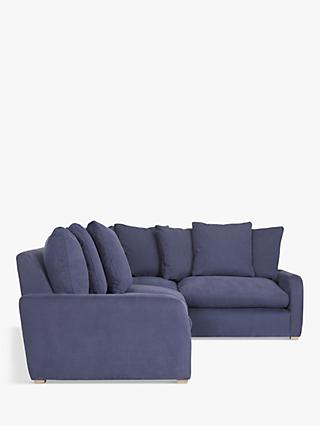 Floppy Jo Large RHF Corner End Sofa by Loaf at John Lewis, Brushed Cotton Navy