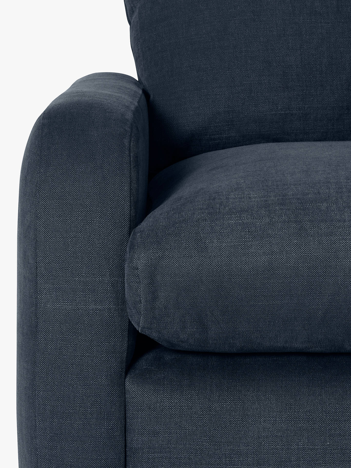 BuyFloppy Jo Large LHF Corner End Sofa by Loaf at John Lewis, Clever Velvet Liquorice Grey Online at johnlewis.com
