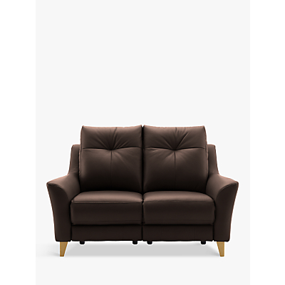 G Plan Hirst Power Recliner Small 2 Seater Leather Sofa