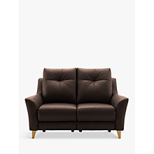 Buy G Plan Hirst Power Recliner Small 2 Seater Leather Sofa Online at johnlewis.com